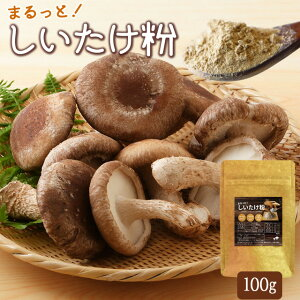 しいたけ粉100g メール便送料無料 三重県産 農薬不使用栽培椎茸100%使用 チャック付袋入
