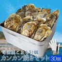 牡蠣カンカン焼きセット30個入 冷凍牡蠣 送料無料 旬凍桃こまち 鳥羽産 半缶入り(牡蠣ナイフ・片手用軍手付き)殻付…