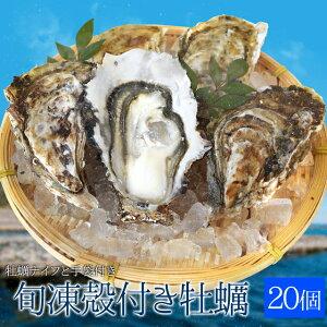 牡蠣20個入 冷凍殻付き牡蠣 産地厳選 加熱用(発泡箱入・牡蠣ナイフ・片手用軍手付き)海鮮バーベキューセット