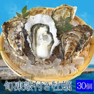 牡蠣30個入 冷凍殻付き牡蠣 産地厳選 加熱用(発泡箱入・牡蠣ナイフ・片手用軍手付き)海鮮バーベキューセット