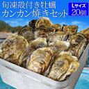 牡蠣 カンカン焼き セット Lサイズ 20個入 冷凍牡蠣 送料無料 旬凍 産地厳選 ミニ缶入(牡蠣ナイフ・片手用軍手付き)…