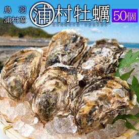 浦村牡蠣50個 殻付き牡蠣 (牡蠣ナイフ・片手用軍手付き)発泡箱入 三重県鳥羽産(加熱用)