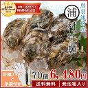 【クーポンで200円OFF】送料無料 浦村牡蠣70個 殻付き牡蠣 (牡蠣ナイフ・片手用軍手付き) 三重県鳥羽産(加熱用) 発泡箱入り