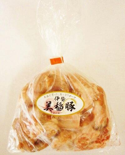 伊勢美稲豚 豚骨皮(なかおち)500g