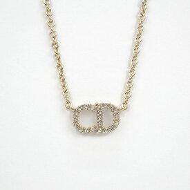 【中古】【辛口評価】【Aランク】Christian Dior クリスチャン ディオール CLAIR D LUNE ネックレス メタル&クリスタル N0717CDLCY_D301 ゴールド