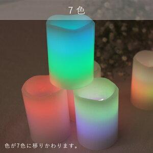 LEDキャンドルSサイズ4色1個販売地震停電災害緊急防災グッズ非常用80時間以上点灯ピラーキャンドルゆらぎキャンドルピラーイルミネーションクリスマスハロウィンパーティー照明