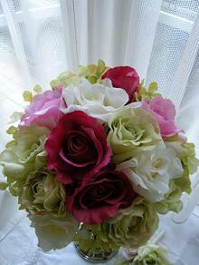 【ブライダルブーケ 造花】ブライダル(高級造花)スイートミックス・ミッシェルローズ ブーケ