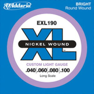 D'Addario / EXL190 Custom Light 40-100 Long Scale ベース弦【池袋店】