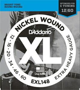 D'Addario / XL NICKEL Electric Guitar Strings EXL148 Extra Heavy 12-60 【渋谷店】