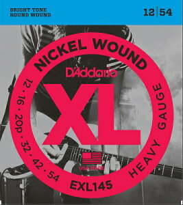 D'Addario / EXL145 XL NICKEL Electric Guitar Strings Heavy 12-54 【渋谷店】