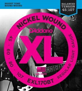D'Addario / EXL170BT XL NICKEL Bass Strings Balanced Tension Regular Light 45-107 【渋谷店】