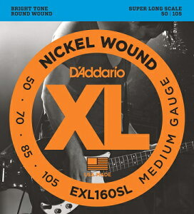 D'Addario / EXL160SL XL NICKEL Bass Strings 50-105 Super Long Scale 【渋谷店】