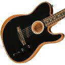Fender / AMERICAN ACOUSTASONIC TELECASTER Black【NAMM SHOW 2019新製品】 《予約注文/入荷分より順次お届け》【渋谷店】