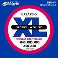 D'Addario / EXL170-5 Regular Light 45-130 Long Scale 5strings【渋谷店】