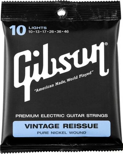 Gibson / Vintage Reissue Pure Nickel Wound SEG-VR10 Lights 10-46 【エレキギター弦】【Electric Guitar Strings】【セット弦】【ギブソン】【ヴィンテージリイシュー】【ピュアニッケルワウンド】【ライト】【新宿店】