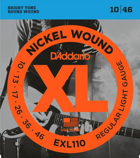 D'Addario / EXL110 Regular Light 10-46 【エレキギター弦】【Electric Guitar Strings】【セット弦】【ダダリオ】【Daddario】【レギュラーライト】【EXL-110】【新宿店】
