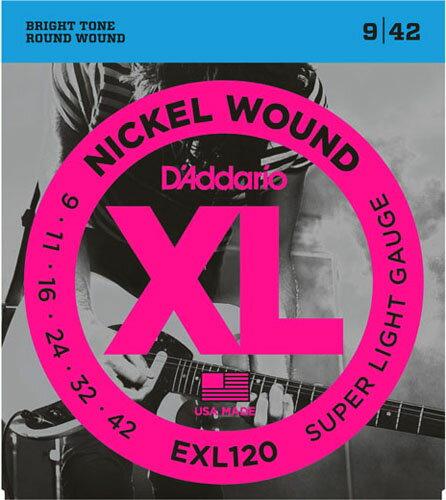 D'Addario / EXL120 Super Light 09-42 【エレキギター弦】【Electric Guitar Strings】【セット弦】【ダダリオ】【Daddario】【スーパーライト】【EXL-120】【新宿店】