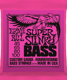 ERNiE BALL / #2834 SUPER SLiNKY BASS 45-100 Long Scale 【エレキベース弦】【Electric Bass Strings】【セット弦】【アーニーボール】【スーパースリンキーベース】【ロングスケール】【ピンク】【Pink】【新宿店】