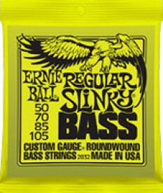 ERNiE BALL / #2832 REGULAR SLiNKY BASS 50-105 Long Scale 【エレキベース弦】【Electric Bass Strings】【セット弦】【アーニーボール】【レギュラースリンキーベース】【ロングスケール】【イエロー】【Yellow】【新宿店】