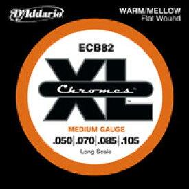 D'Addario / Chromes Flat Wound ECB82 Medium 50-105 Long Scale 【エレキベース弦】【Electric Bass Strings】【セット弦】【ダダリオ】【Daddario】【クロームズフラットワウンド】【ジャズ】【Jazz】【ミディアム】【ロングスケール】【ECB-82】【新宿店】