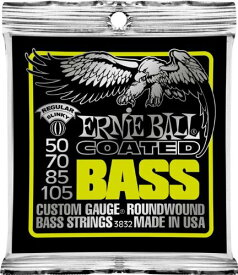 ERNiE BALL / Coated Bass #3832 Regular SLiNKY 50-105 Long Scale 【エレキベース弦】【Electric Bass Strings】【セット弦】【アーニーボール】【レギュラースリンキー】【コーテッドベース】【コーティング弦】【ロングスケール】【イエロー】【Yellow】【新宿店】
