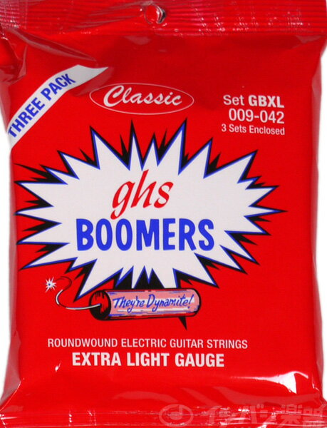 ghs / Guitar Boomers GBXL Classic Three Set Pack Extra Light 09-42 【3セットパック】【エレキギター弦】【Electric Guitar Strings】【セット弦】【ギターブーマーズ】【エクストラライト】【新宿店】