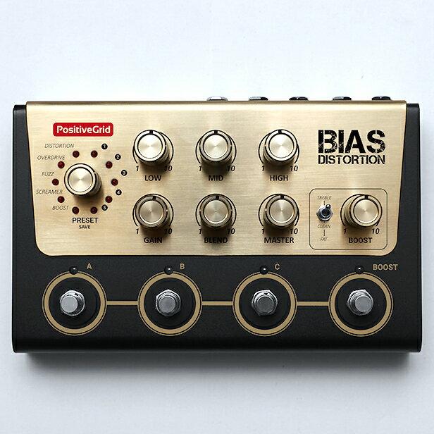 Positive Grid / BIAS DISTORTION Tone Match Distortion Pedal ≪今ならピック10枚プレゼント!≫【ポジティブグリッド】【ディストーション】【TFJ3】【新宿店】