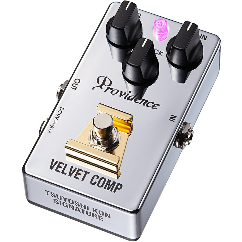 Providence / Velvet Comp VLC-1TK Compressor ≪予約注文/11月24日発売≫ ≪今ならピック10枚プレゼント!≫【今剛シグネチャーモデル】【エフェクター】【プロビデンス】【ベルベット コンプレッサー】【送料込】【新宿店】
