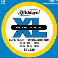 D'Addario / EXL125 Super Light Tops/Reg. Bottoms ダダリオ エレキギター弦 1セット【心斎橋店】