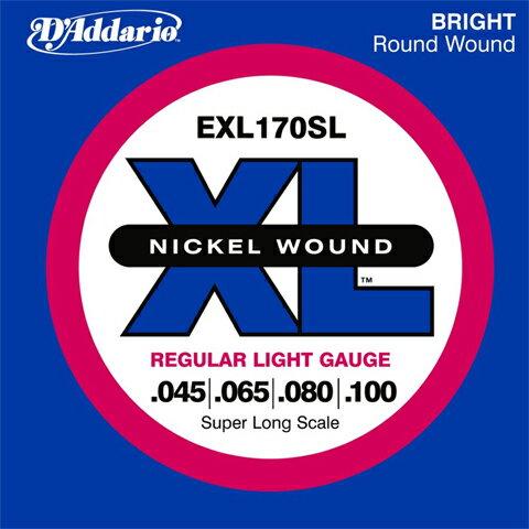 D'Addario / EXL170SL REGULAR LIGHT 45-100 【エレキベース弦 スーパーロングスケール】【心斎橋店】