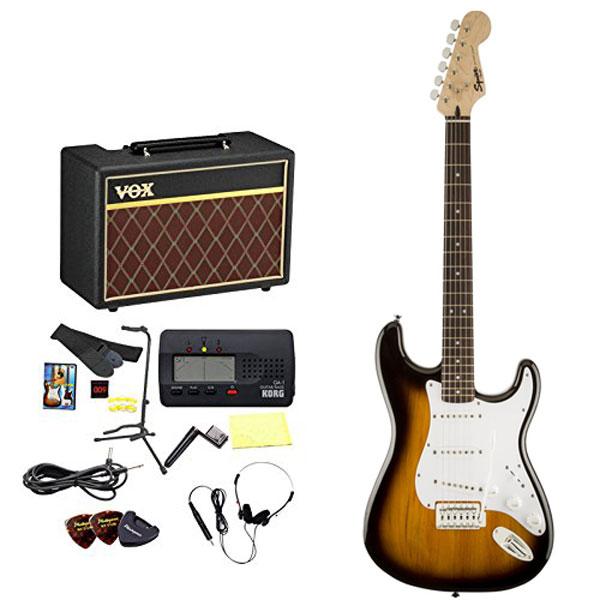 Squier / エレキギター入門セット Bullet Stratocaster with Tremolo Brown Sunburst 【VOXアンプ&小物セット】 入門 初心者【WEBSHOP】