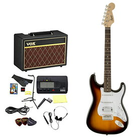 Squier by Fender / エレキギター入門セット Bullet Stratocaster with Tremolo HSS Brown Sunburst 【VOXアンプ&小物セット】 入門 初心者【WEBSHOP】