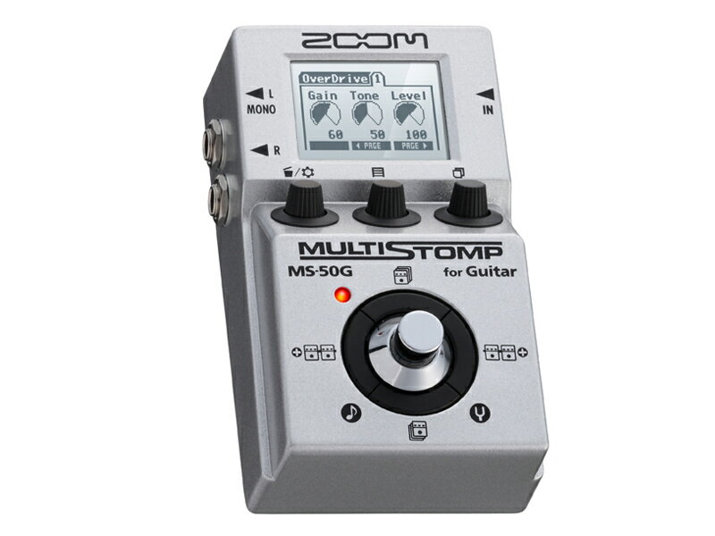 【新品特価】ZOOM / MULTI STOMP MS-50G for Guitar 【コンパクトペダルサイズにエレキギター用マルチエフェクターを集約!】《ピック滑り止めお試しセットプレゼントSET79434》