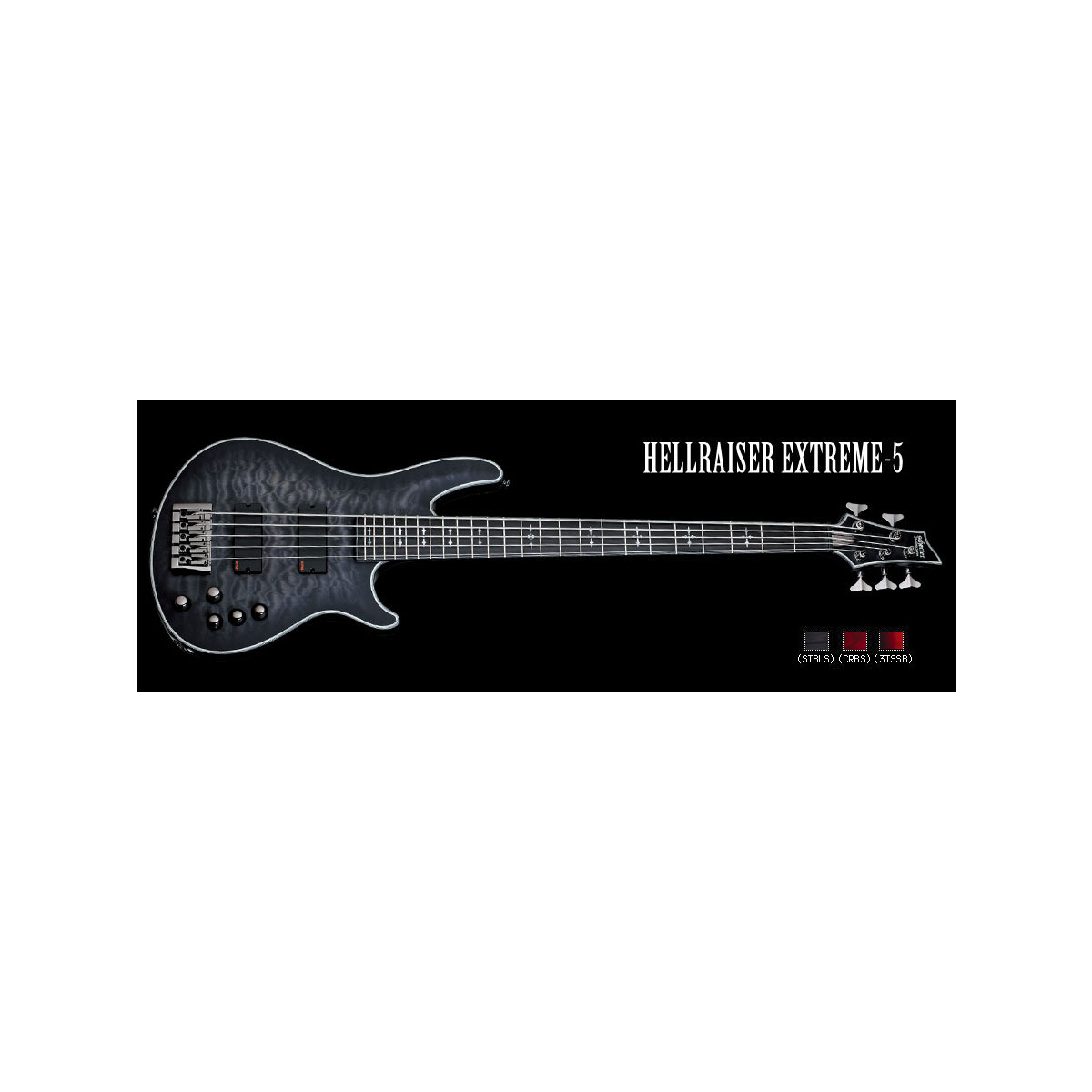 Schecter / HELLRAISER EXTREME 5 See Thru Black Satin シェクター 5弦ベース 【お取り寄せ商品/納期別途ご案内】