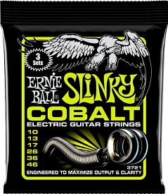 ERNiE BALL アーニーボール / 3721 COBALT REGULAR SLINKY YELLOW 3SET PACK