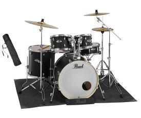 Pearl ドラムセット EXX725S/C #761 Stain Shadow Black パール シンバル付ドラムフルセット (スタンダードサイズ) 純正マットセット【数量限定特価】