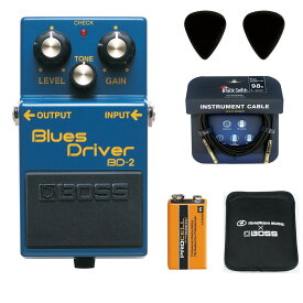 【あす楽365日】BOSS / BD-2 Blues Driver 【ピック+STS3(ケーブル)+PROCELL+スリーブケースセット】 ボス エフェクター オーバードライブ BD2【YRK】