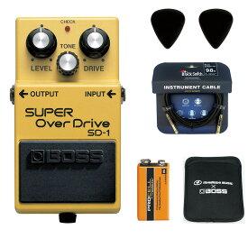 【あす楽365日】BOSS / SD-1 Super Over Drive 【ピック+STS3(ケーブル)+PROCELL+スリーブケースセット】 ボス オーバードライブ エフェクター SD1【YRK】