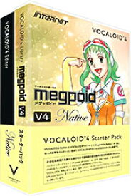 INTERNET インターネット / VOCALOID4 Starter Pack Megpoid V4 Native (VA4S-MPN01)【WEBSHOP】