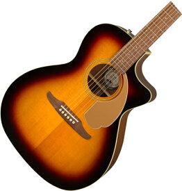【タイムセール:29日12時まで】【在庫有り】 FENDER Acoustic / NEWPORTER PLAYER Sunburst (SB)【CALIFORNIA SERIES】 フェンダー アコースティックギター エレアコ アコギ【YRK】