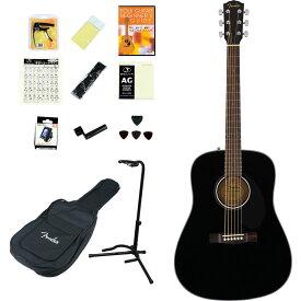 【タイムセール:25日12時まで】Fender Acoustic / CD-60S Dreadnought Black WN 【アコースティックギター14点入門セット!】【単板Top】 フェンダー アコースティックギター アコギ フォークギター 入門 初心者 CD60S【YRK】