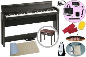 【在庫あり】KORG / C1 Air BR【防振マット+レッスンセット!】(ブラウン) デジタル・ピアノ《豪華お手入れセット+メトロノームプレゼント》【代引不可】【PNG】