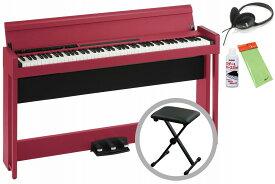 【あす楽対象】KORG コルグ / C1 Air RD (レッド) 【椅子セット!】デジタル・ピアノ《お手入れセットプレゼント:meinte2-set》【代引不可】【PNG】