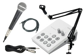 【あす楽365日】Roland / GO:LIVECAST -マイク、アームスタンド黒、AUXケーブル付のカンタン配信スタートセット- Live Streaming Studio for Smartphones【YRK】