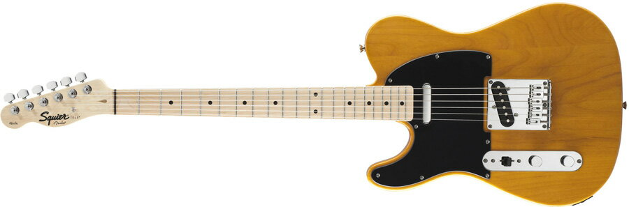 Squier by Fender / Affinity Telecaster Left-Hand Butterscotch Blonde Maple スクワイヤー エレキギター