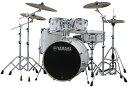 YAMAHA ステージカスタム ドラムセット SBP2F5S18-PW(ピュアホワイト) 22BD/スタンダードセット+Sジルジャン3シンバル…