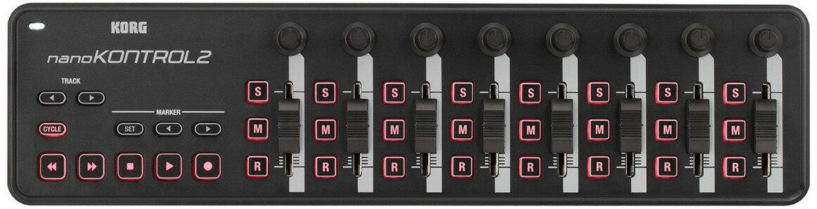 KORG コルグ / nano KONTROL2 BK SLIM-LINE USB コントローラー ブラック (nanoKONTROL2)【YRK】