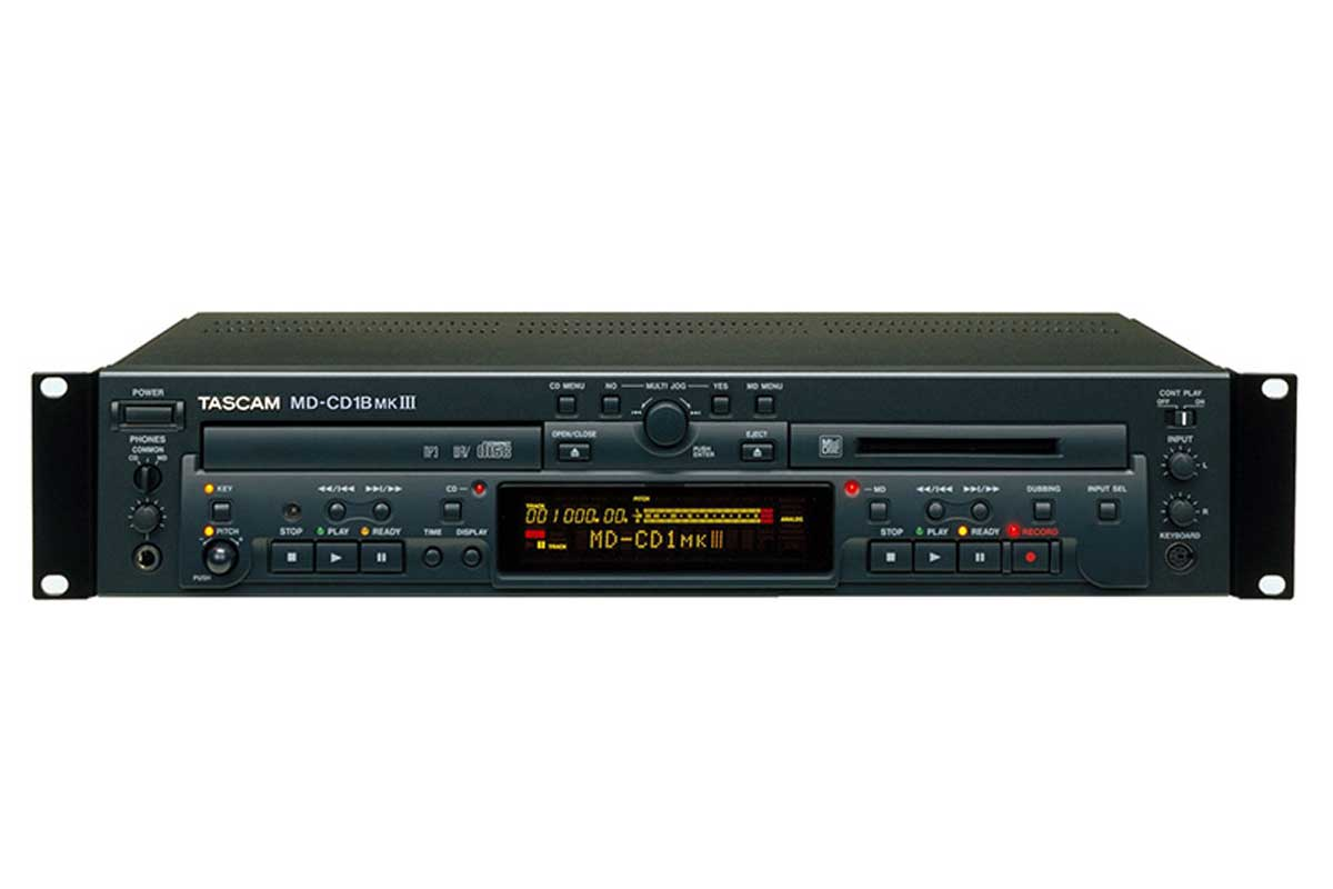 TASCAM タスカム / MD-CD1B MK3 業務用MDレコーダー/CDプレーヤー(アナログバランス入出力モデル)