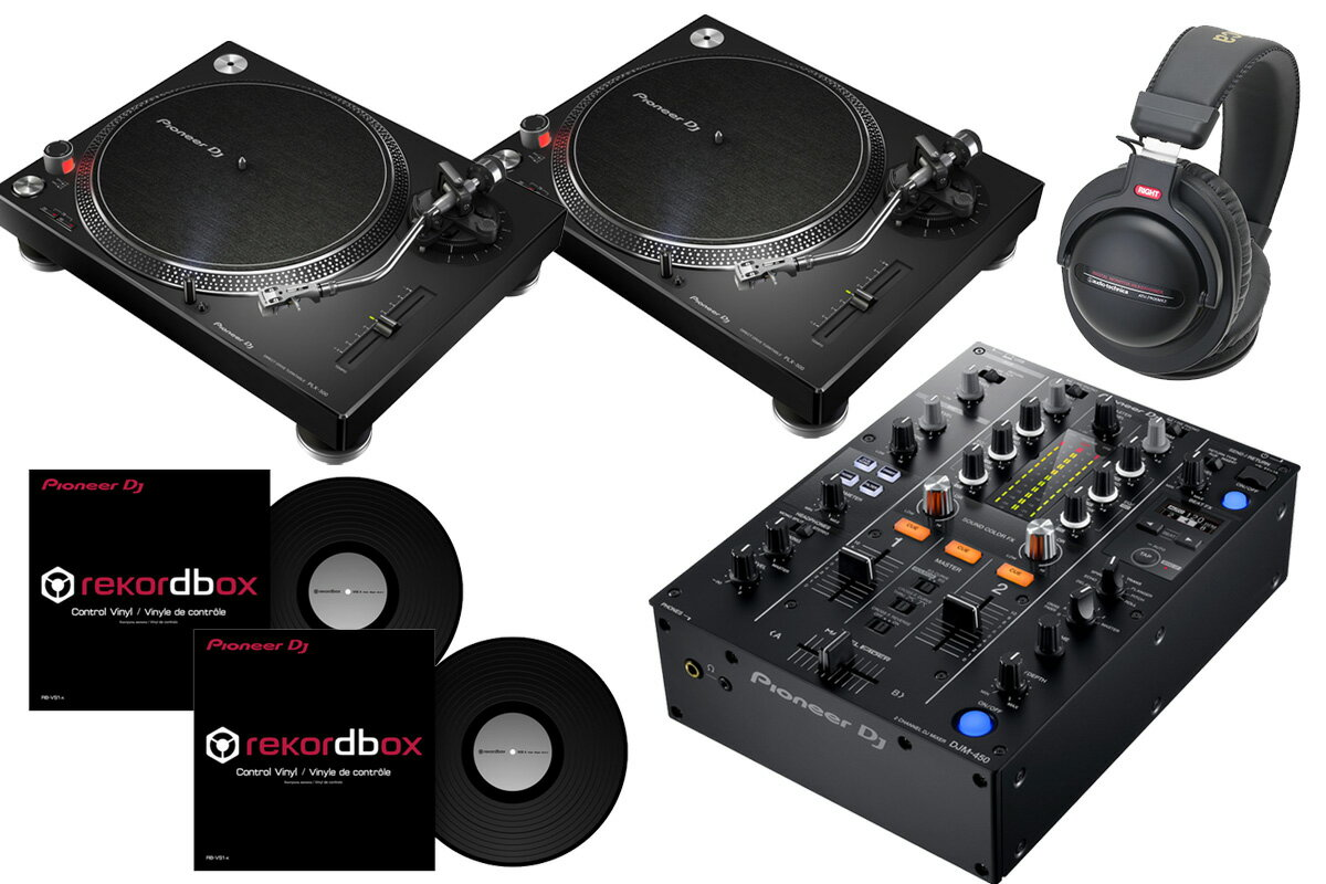 Pioneer パイオニア / DJM-450 + PLX-500 【DVSセット!】 DJミキサー《Dr.Suzuki製スリップマットプレゼント:811162600x2》
