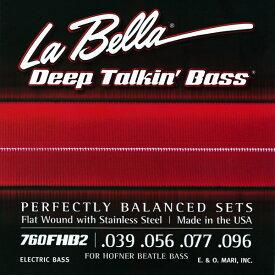 La Bella / Deep Talkin' Bass Beatle Bass Stainless Steel Flatwound 760FHB2 39-96 Violin Bass Scale 【★お取り寄せ】